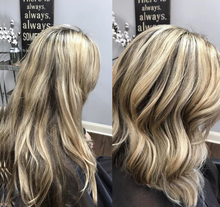 Before and After Hair Styles/Colorings